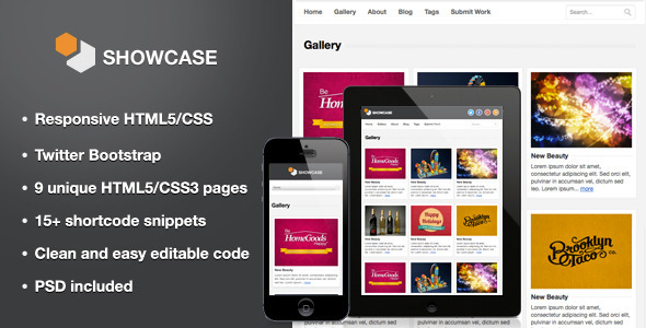 Showcase - Responsive HTML5 Template - Creative Site Templates