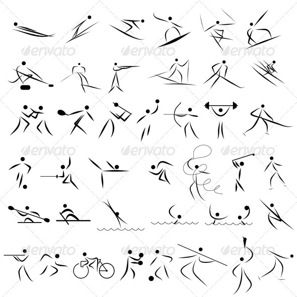 Set of Sports Icons - Sports/Activity Conceptual