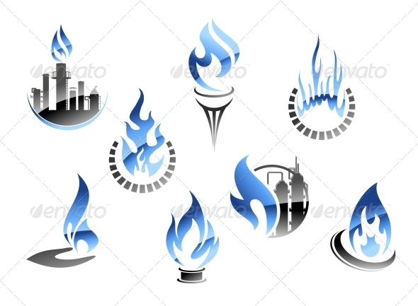 Gas and Oil Industry Symbols - Industries Business