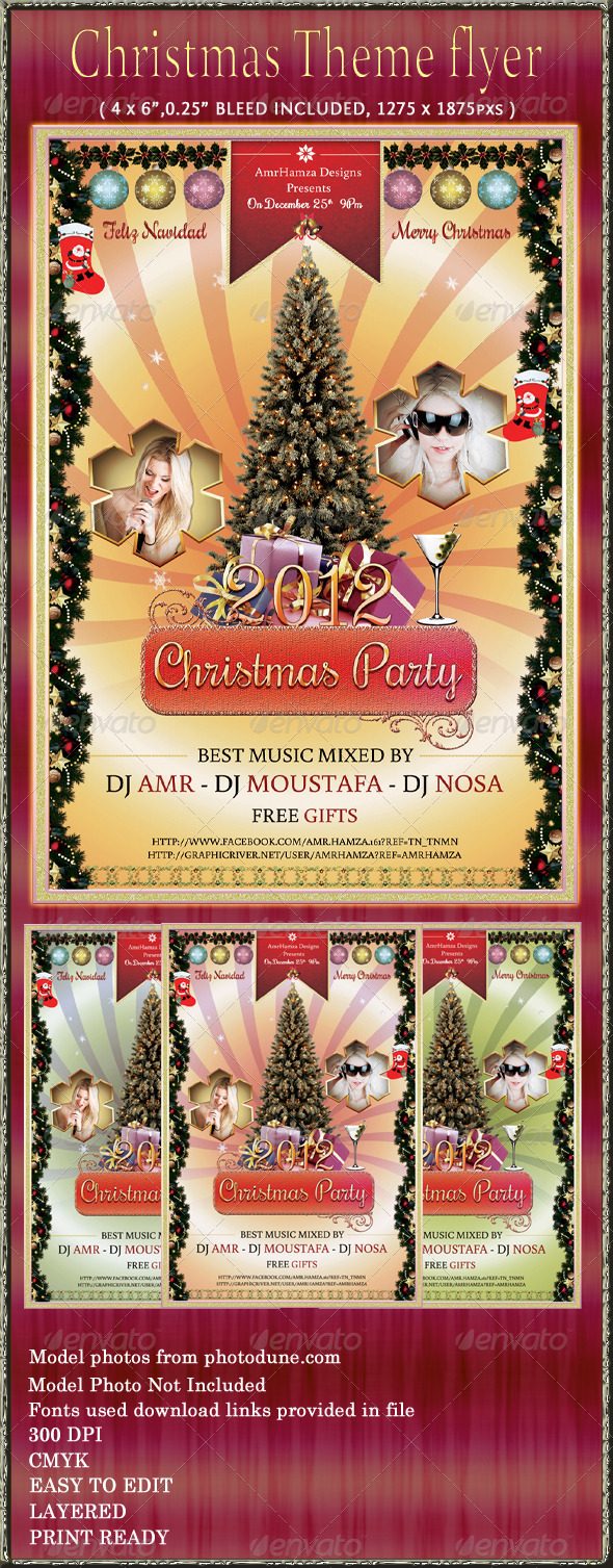 Christmas Party Event Flyer - Holidays Events