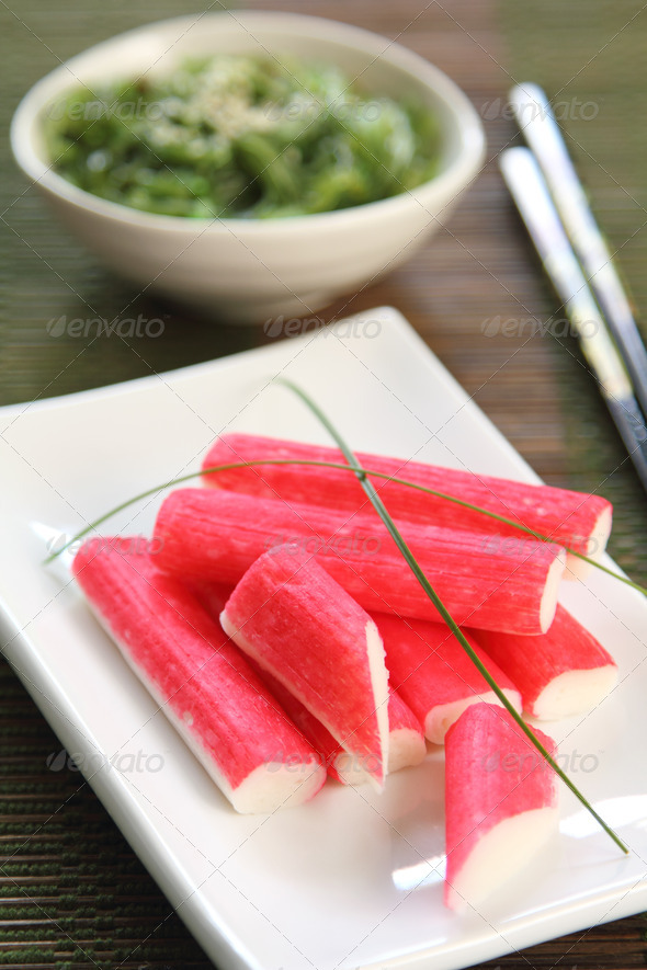 Crab stick  [ Japanese food ] - Stock Photo - Images