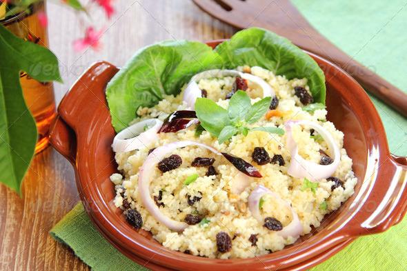 Couscous salad  - Stock Photo - Images