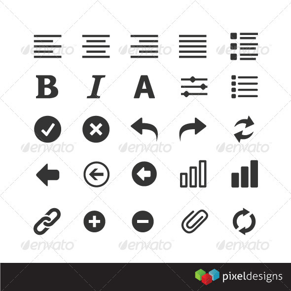 25 Modern UI Icons - Software Icons