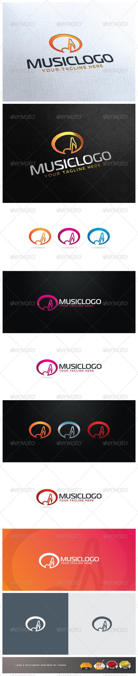 Music Logo - Vector Abstract