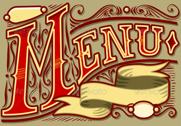 Vintage Graphic Element for Menu - Decorative Symbols Decorative
