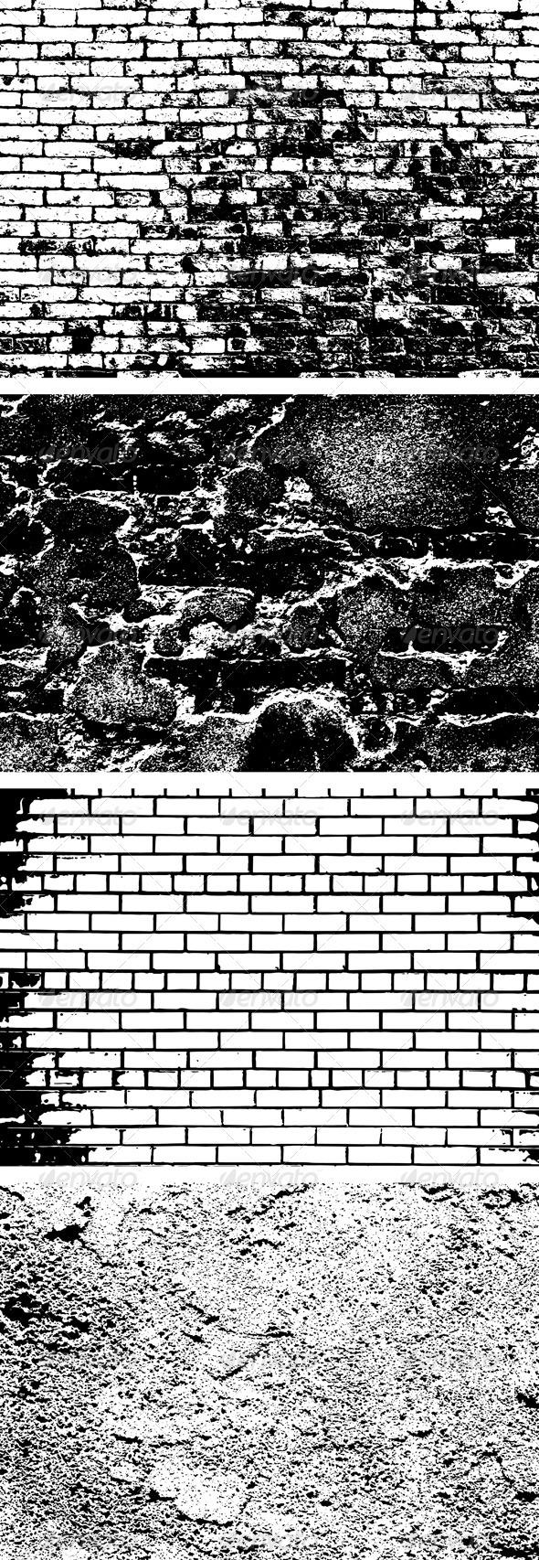 Brick Wall Background Set - Backgrounds Decorative