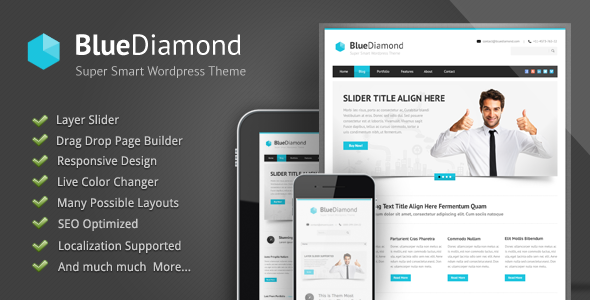 Blue Diamond – Responsive Corporate WP Theme