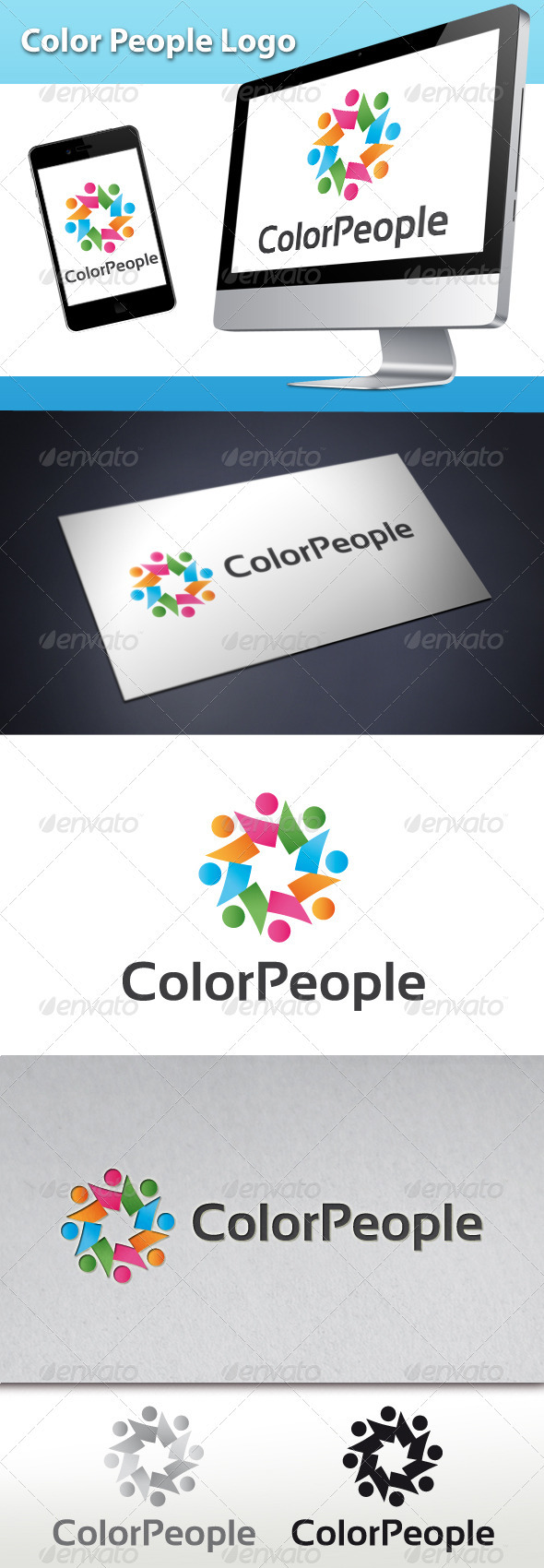 Color People Logo - Humans Logo Templates