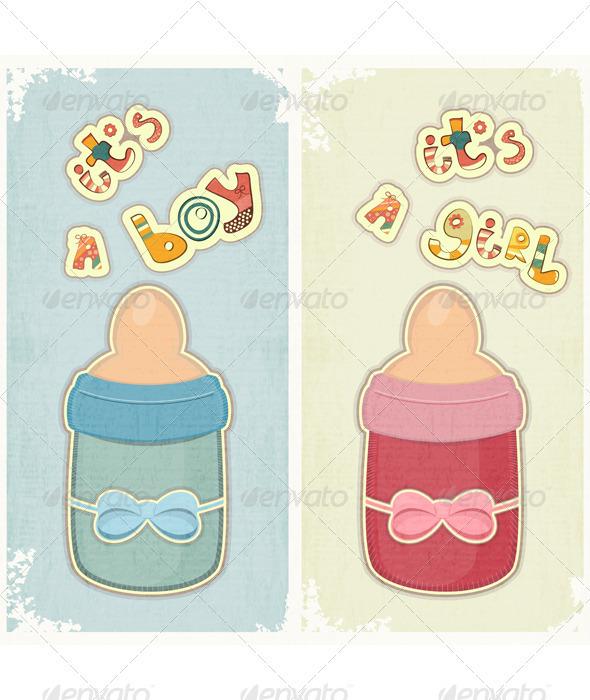 Set of Birthday Card for Boy and Girl - Birthdays Seasons/Holidays