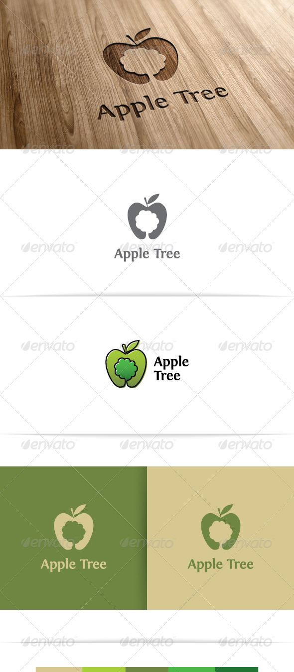 Apple Tree - Nature Logo Templates