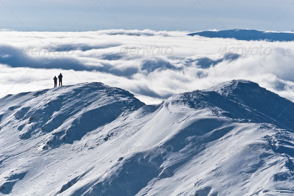 the mountain top winter - Stock Photo - Images