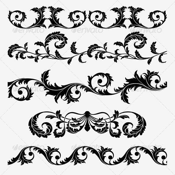 Flourishes and Swirls Set - Flourishes / Swirls Decorative