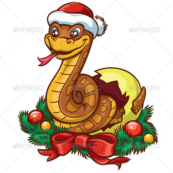Snake Cartoon - New Year Seasons/Holidays