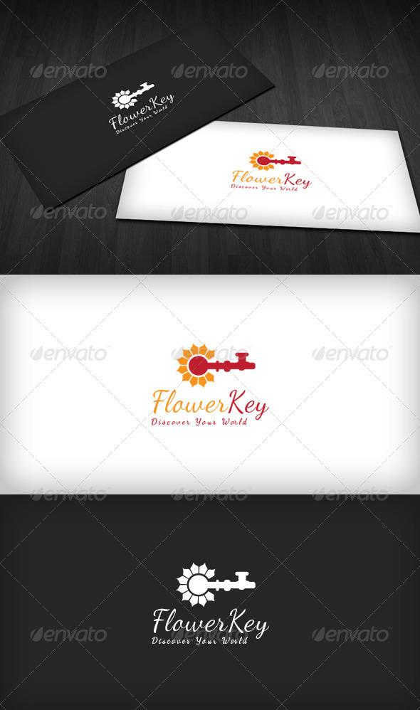 Flower Key Logo - Nature Logo Templates