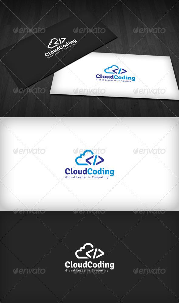 Cloud Coding Logo - Symbols Logo Templates