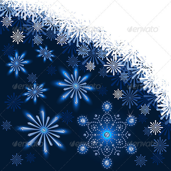 Christmas Dark Blue Background - Christmas Seasons/Holidays