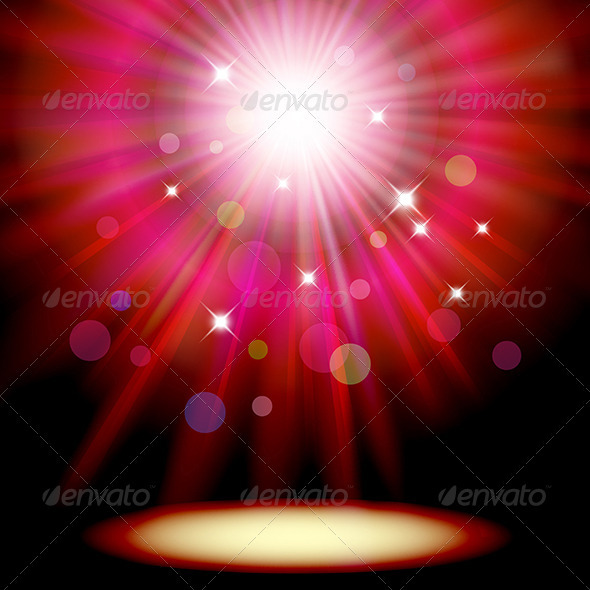 Background with Red Spotlight - Backgrounds Decorative