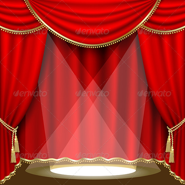 Theater Stage - Mesh - Miscellaneous Vectors