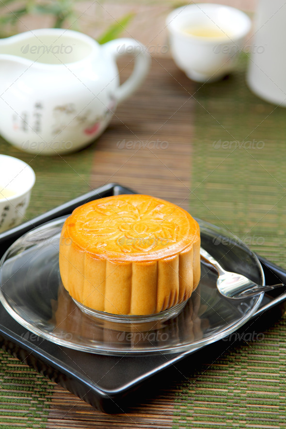 Chinese pastry [ Moon cake ] - Stock Photo - Images