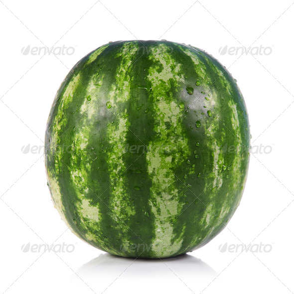 Green striped watermelon - Stock Photo - Images