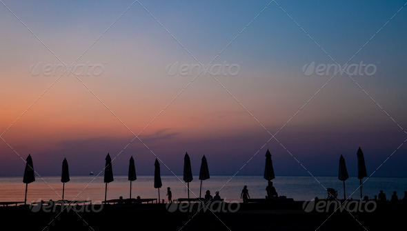 The beach at night - Stock Photo - Images