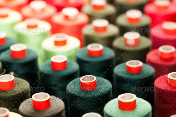 Reels with colorful threads - Stock Photo - Images