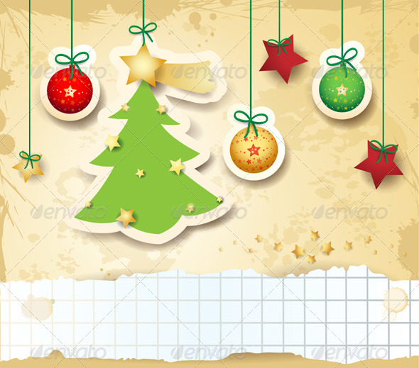 Christmas Card with Copyspace - Christmas Seasons/Holidays