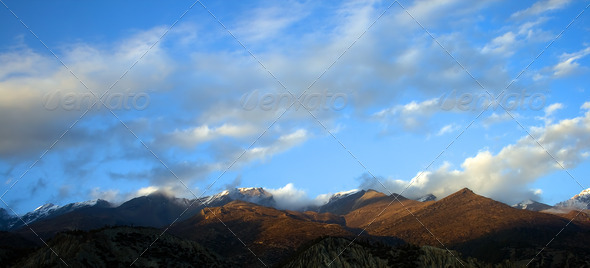 Mountains Nepal - Stock Photo - Images