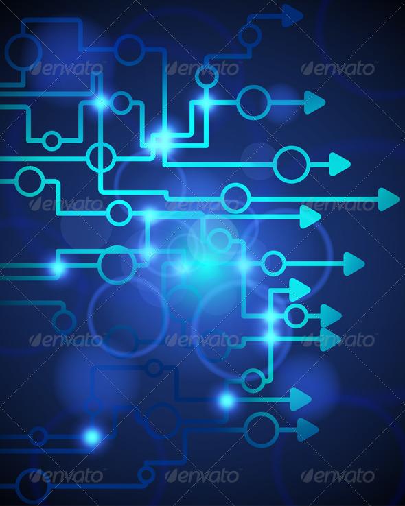 Technological Blue Background - Backgrounds Decorative