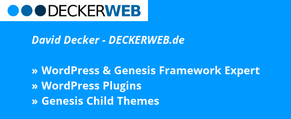 Deckerweb profil header