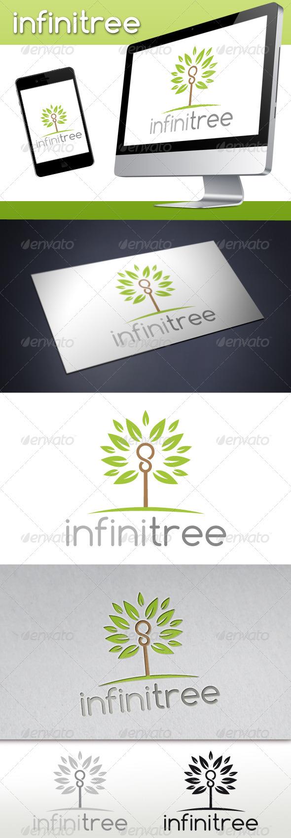 Infinite Tree Logo - Nature Logo Templates