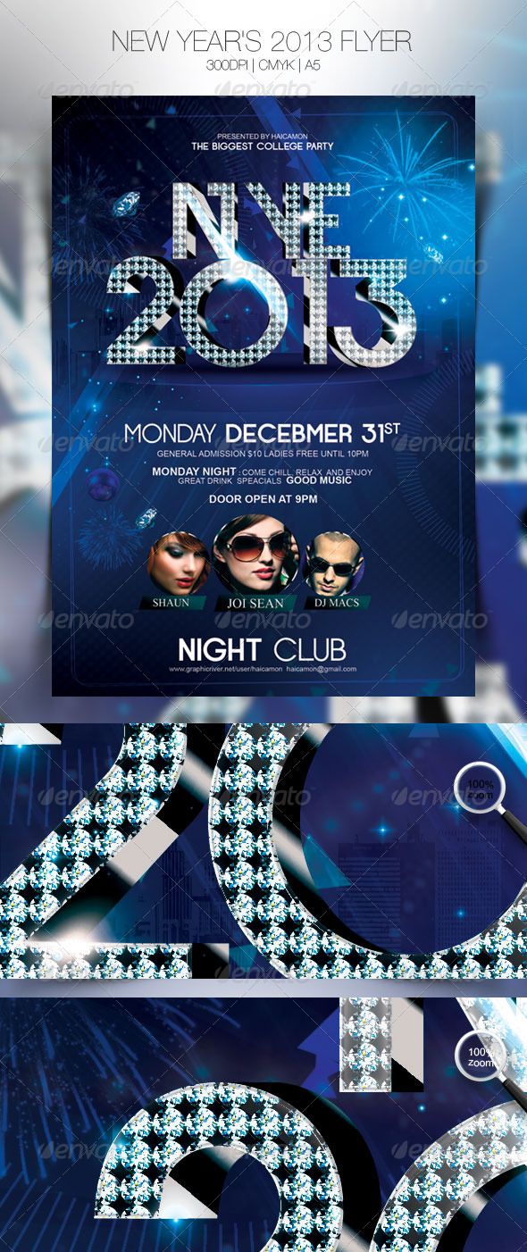 New Year's 2013 Flyer - Events Flyers
