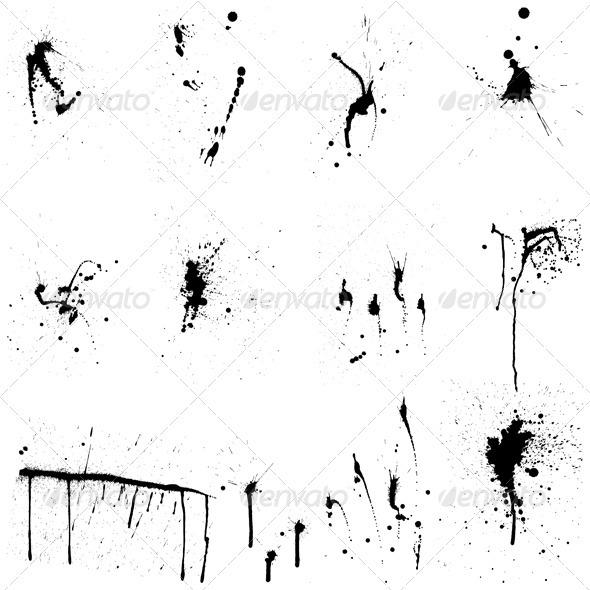 Grunge Blob Set - Decorative Symbols Decorative