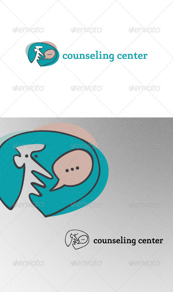 Speaking Man - Humans Logo Templates
