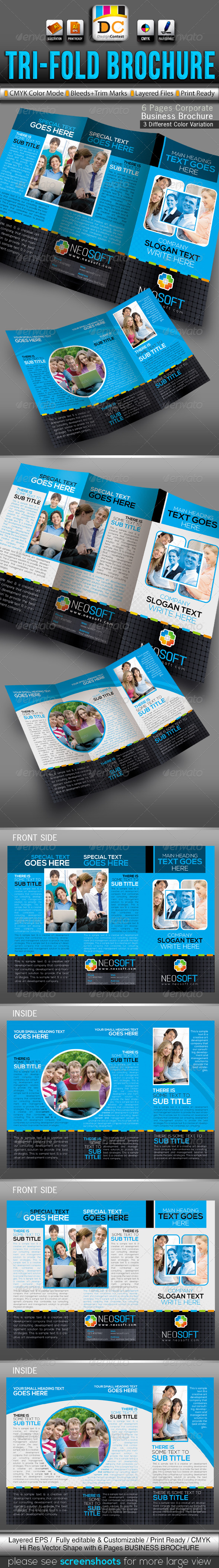 NeoSoft Tri-fold Corporate Business Brochure  - Corporate Brochures