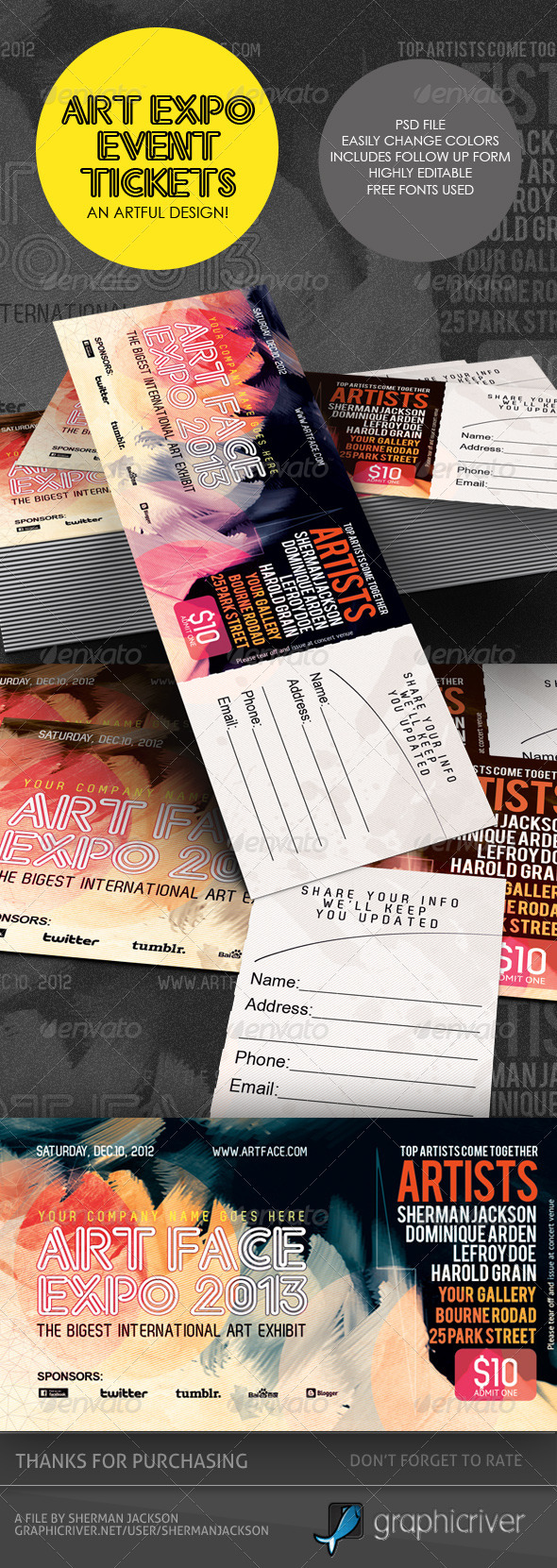 Event Ticket Designs Graphics, Designs & Templates