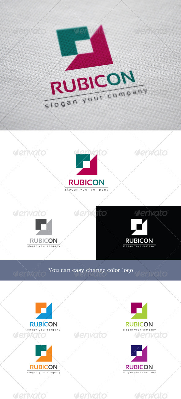 Rubicon - Objects Logo Templates