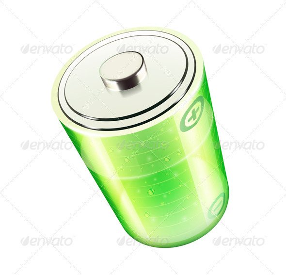 Green Battery Icon - Objects Vectors