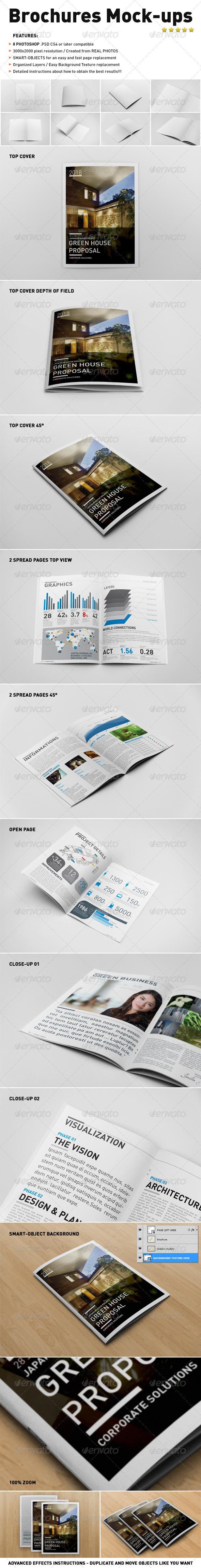 Photorealistic Brochure Mock-ups - Brochures Print