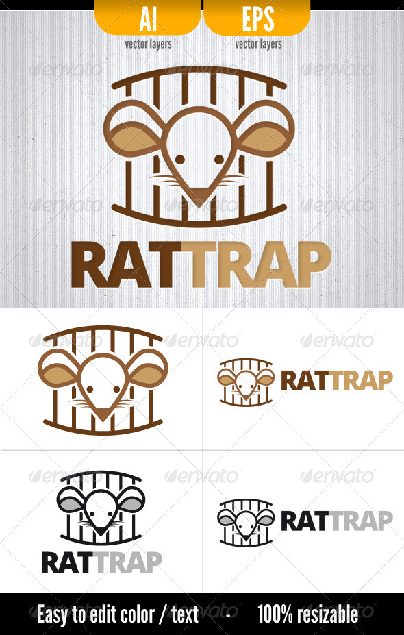 RatTrap - Animals Logo Templates