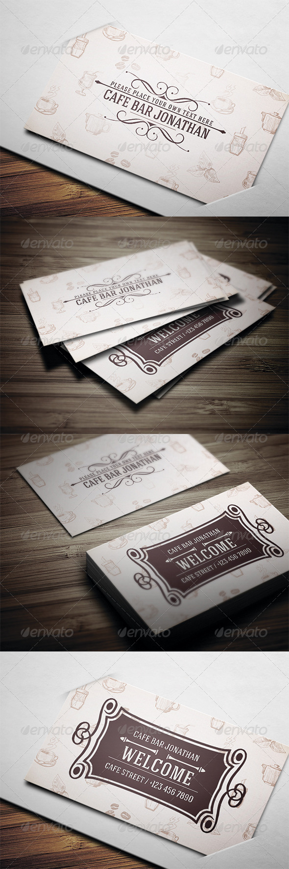 Cafe Business Card - Creative Business Cards