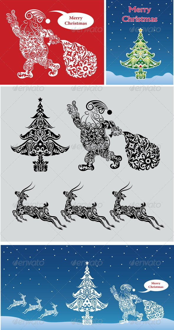Christmas ornaments vector - Christmas Seasons/Holidays