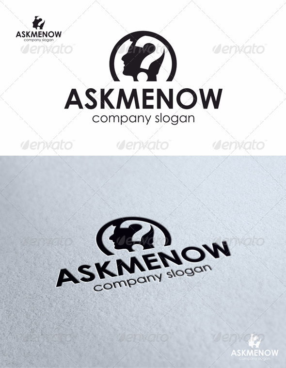 Ask Me Now - Humans Logo Templates