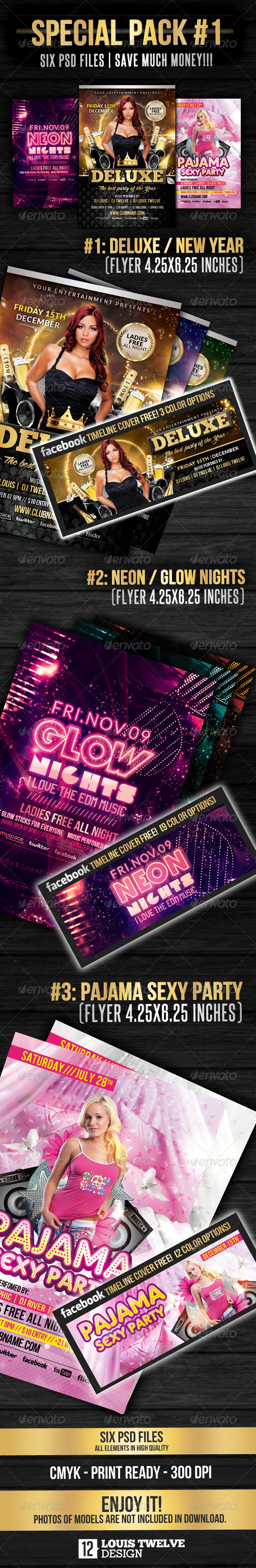 Special Pack 01 | Flyers + Facebook Covers  - Clubs & Parties Events