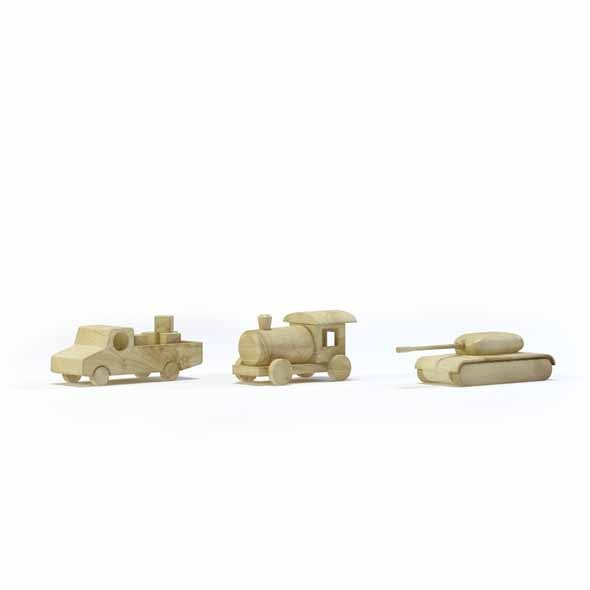 Wooden toys - 3DOcean Item for Sale