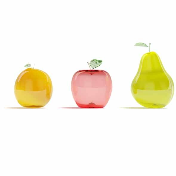 Glass fruits - 3DOcean Item for Sale