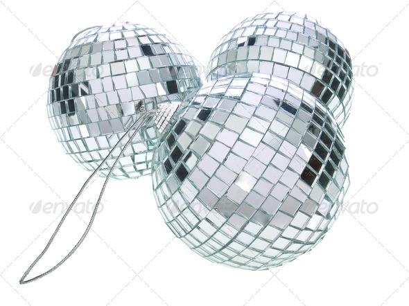 Disco Christmas balls - Stock Photo - Images