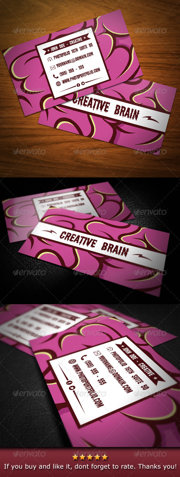 Creative Brain Business Card - Creative Business Cards