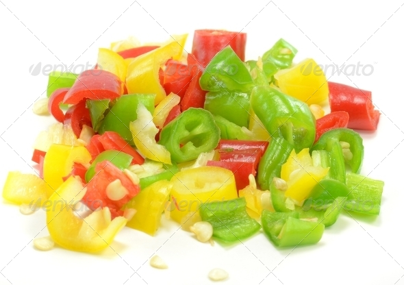 Fine Diced Chilli Peppers - Stock Photo - Images