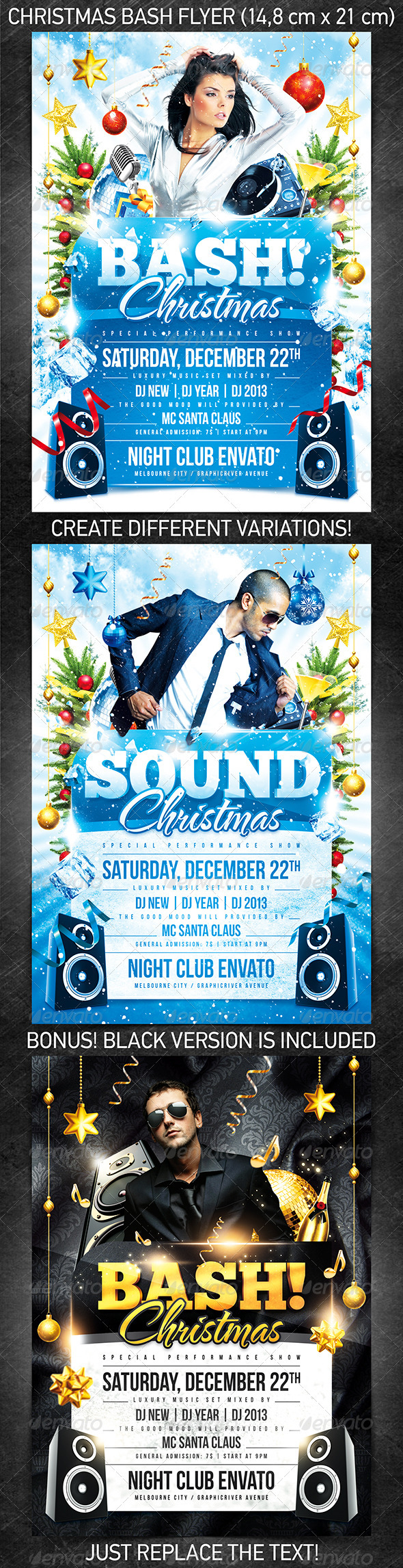 Christmas Bash Flyer Template - Holidays Events